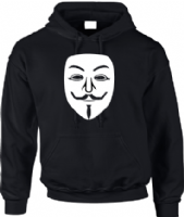 ANONYMOUS MASK HOODIE - INSPIRED BY V FOR VENDETTA